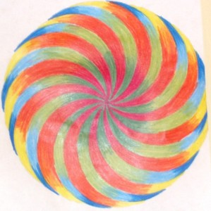 colour drawing of spiral